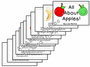 All About Apples Emergent Reader for Preschool and Kindergarten