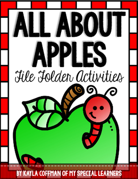 All About Apples File Folder Activities for Special Education