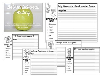 All About Apples: Four Johnny Appleseed Word Work Literacy Centers