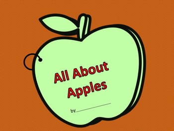 All About Apples Interactive Booklet