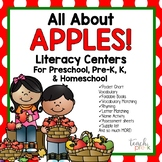 All About Apples Literacy Centers for Preschool, Pre-K, K, & Homeschool!