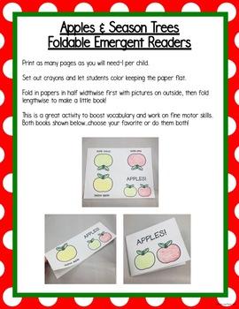 All About Apples Literacy Centers for Preschool, Pre-K, K, & Homeschool!
