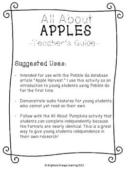 All About Apples - Pebble Go Research Introduction