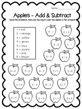 All About Apples - Print & Go Math, Language Arts, & Science Activities