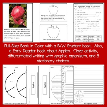 All About Apples  Reading, Writing, Science, and Math With Lap Book