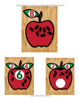 All About Apples Seed Counting and Number Bond Addition