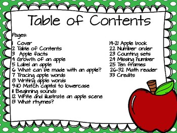 All About Apples Unit!
