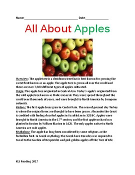 All About Apples - review article information on trees apples with review