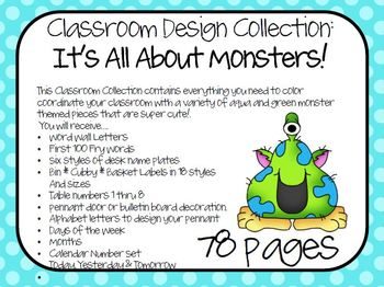 Monsters - Classroom Design Set