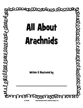All About Arachnids booklet