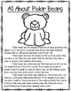 All About Arctic Animals-POLAR BEARS (crafts, writing, vocabulary, research)