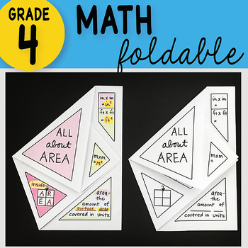 Doodle Notes - All About Area Math Interactive Notebook Foldable