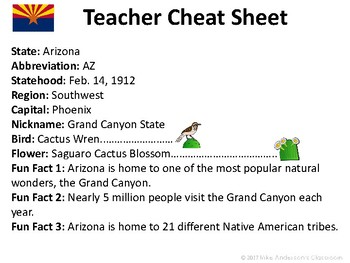 All About Arizona | US States | Activities & Worksheets