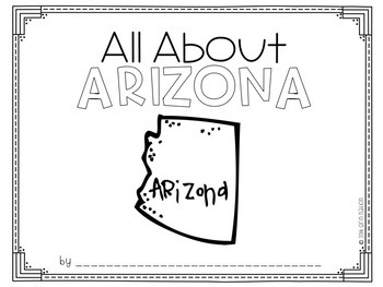 """All About Arizona"" a Cut-a-Sentence book"