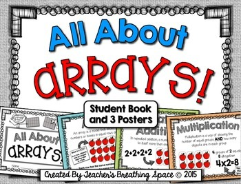 All About Arrays --- Array Book and Array Posters --- Intro to Multiplication