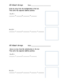 All About Arrays Worksheet