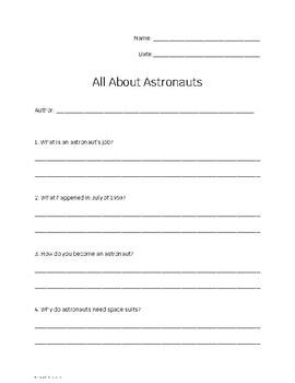 All About Astronauts (LLI Blue Lesson)