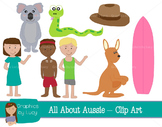 Australia Clip Art Set! 16 PNG Images {Personal & Commercial Use}