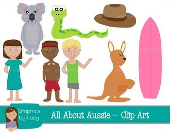 Australia Clip Art Set! 16 PNG Images {Personal & Commercial Use}