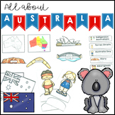 All About Australia Activity Pack maps, spinner, flip book and activities