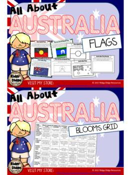 All About Australia Bundle - Worksheets, Information Sheets, Flipbooks, Quiz