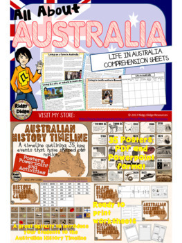 All About Australia Worksheets, Information Sheets, Flipbooks, Quiz