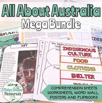 All About Australia Worksheets Fact Sheets Flipbooks Quiz Tpt