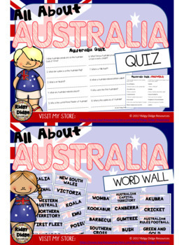 All About Australia Worksheets, Fact Sheets, Flipbooks, Quiz