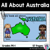 All About Australia (Continent) Complete Unit with Activities for Early Readers