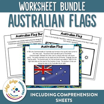 All About Australia Flags Posters and Worksheets