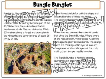 All About Australia Geography and Landmarks Printable Worksheets