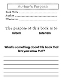 All About Author's Purpose!