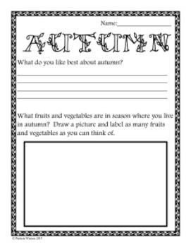 All About Autumn Worksheets