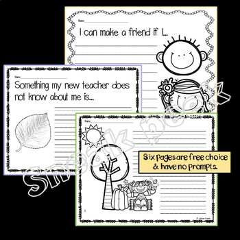 EARLY LEARNERS All About Autumn: Writing Prompts & Fall Papers