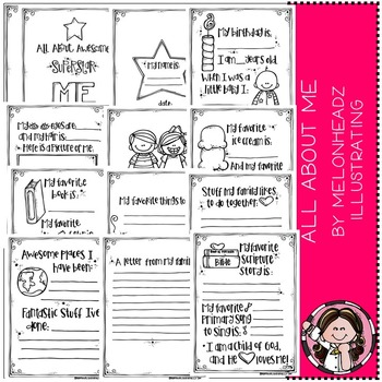 All About Awesome Superstar Me Printable book- by Melonheadz