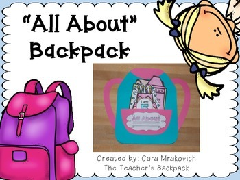 All About Backpack Craftivity