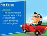 Balanced, Unbalanced and Net Forces