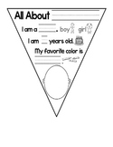"""FREE """"All About Me"""" Flag Banner"""