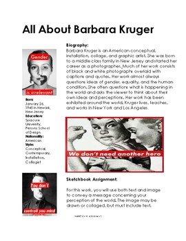 Women Artists- All About Barbara Kruger