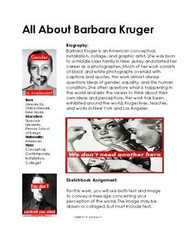Barbara Kruger Sketchbook Prompt