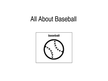 All About Baseball PECS Book