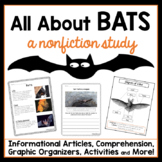 All About Bats Nonfiction Study with Text Features and Comprehension