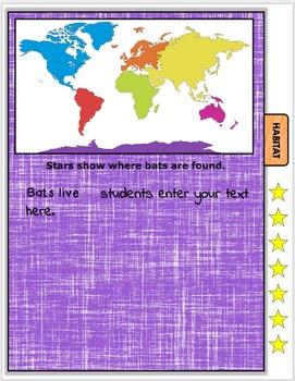 All About Bats Book Student Nonfiction Writing Presentations EDITABLE
