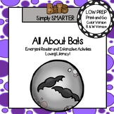 All About Bats Emergent Reader Book AND Interactive Activities