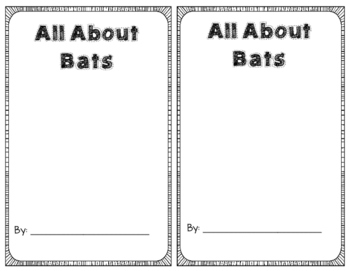 All About Bats Fact Book
