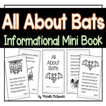 All About Bats: Informational Mini-Book
