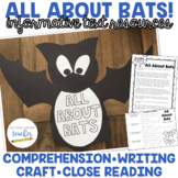 All About Bats {Informative Text, Craftivity, Comprehensio