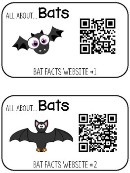 All About Bats Informative Writing Research Stations & Graphic Organizer