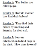 All About Bats Non-Fiction Readers Theatre