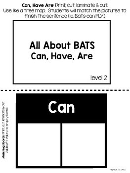 All About Bats Task Boxes